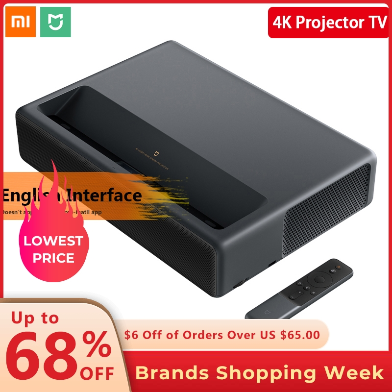 Original 2019 Xiaomi Mijia Laser Projection TV 4K Home cinéma 200 pouces Wifi 2G RAM 16G anglais Interface Support HDR DOLBY DTS