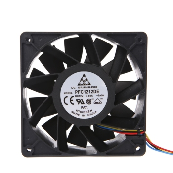 120x120x38mm Brushless DC 12V 4.8A Brushless 11 Blades Cooling Fan For Delta free shipping for delta ffb1248ehe 4b77 dc 48v 0 75a 120x120x38mm 3 wire 80mm server square cooling fan