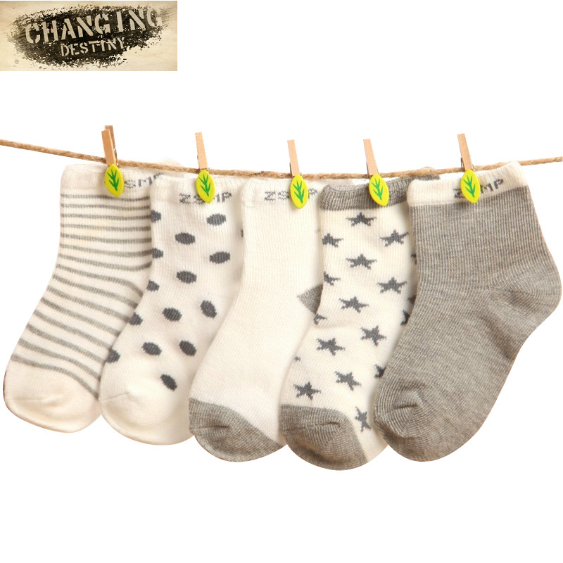 5 Pairs 0-10 Years Baby Newborn Cotton Socks Kids Children Floor Short Socks Girl And Boy Casual Socks