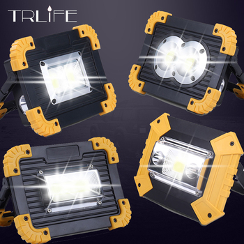 Powerful Lampe Led Portable Spotlight Work Light Rechargeable 18650 Battery Outdoor Light For Hunting Camping Latern Flashlight