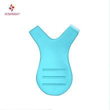 Цветные синие многоразовые пластиковые Мягкие кисти 10 шт/упак