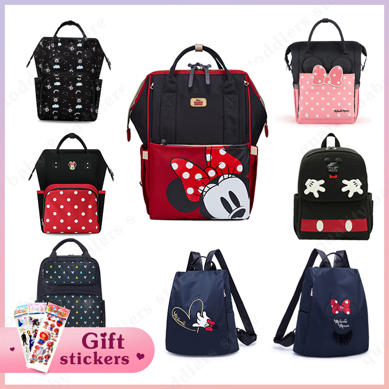 Disney Diaper Bag Mummy Maternity Nappy Bag Large Capacity Baby Bag Nursing Bag Fashionable Mom's Travel Backpack Infant Stuff