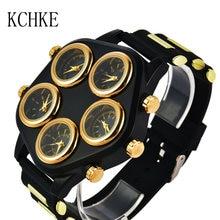 Мужские часы с большим циферблатом модные в стиле хип хоп персональные