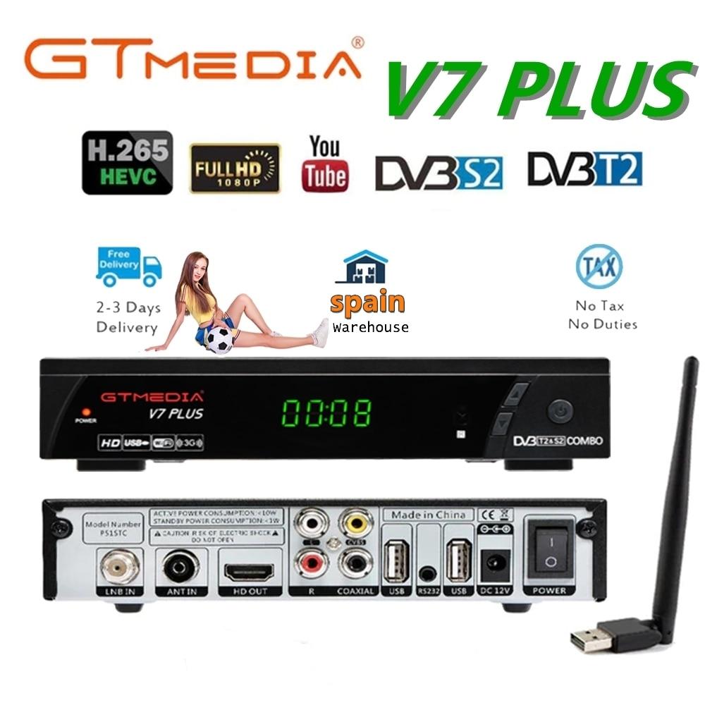 GTMEDIA V7 PLUS DVB-S2 + T2 Decoder Satellite TV Receiver 1080P DVB-S/S2 + T/T2 Unterstützung h.265 und YouTubePK GTMEDIA V7S HD V8 NOVA