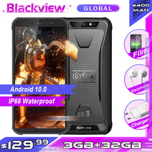 Blackview bv5500 plus 3gb 32gb ip68 impermeável smartphone robusto android 10.0 5.5 'phone tela cheia 4400mah 4g telefone móvel