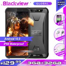 Blackview BV5500 Plus 3GB 32GB IP68 wodoodporny wytrzymały smartfon Android 10 0 5 5 #8221 pełny ekran 4400mAh 4G telefon komórkowy tanie tanio Nie odpinany Inne CN (pochodzenie) Rozpoznawania linii papilarnych Rozpoznawania twarzy Nonsupport english Rosyjski Niemiecki