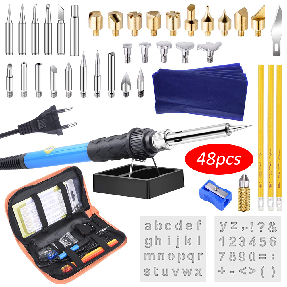 WOOD BURNING PYROGRAPHY KIT DIY CRAFT SOLDERING TOOL IRON HOT PEN SET Supplies