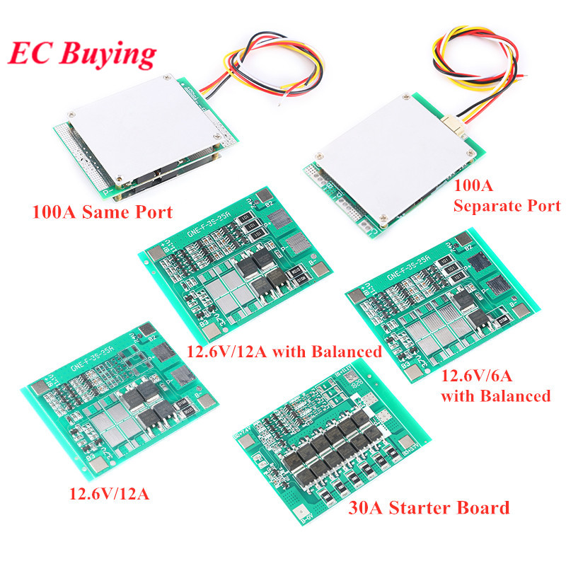 <font><b>3S</b></font> 11.1V/12.6V Li-ion Lithium Battery 18650 Protection Board Charger Charging Module 6A/12A/30A/<font><b>100A</b></font> PCB <font><b>BMS</b></font> Lipo Cell Module image
