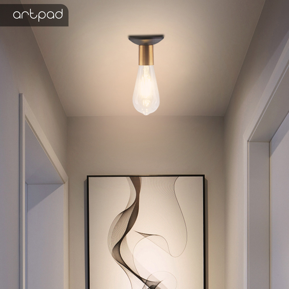 Artpad Industrical Style Loft Ceiling Light with 5W Edison Bulb Metal Ceiling Light Holder Corridor Entrance Aisle Lamp Lighting in Ceiling Lights from Lights Lighting