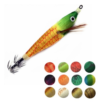 1Pcs Shrimp Fishing Lure 10g/8cm Squid Hook Luminous Squid Jig Wood Fishing Lure Cuttlefish Jigs Lures 1pcs squid jig fishing lures 3 5 luminous fishing wood shrimp lure squid cuttlefish jigs bait pesca fishing tackle