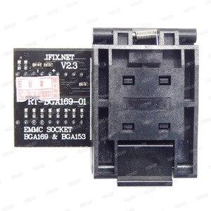 Image 5 - Darmowa wysyłka RT BGA169 01 BGA169 / BGA153 EMMC Adapter V2.3 z 3 sztuk BGA bounding box dla RT809H programista