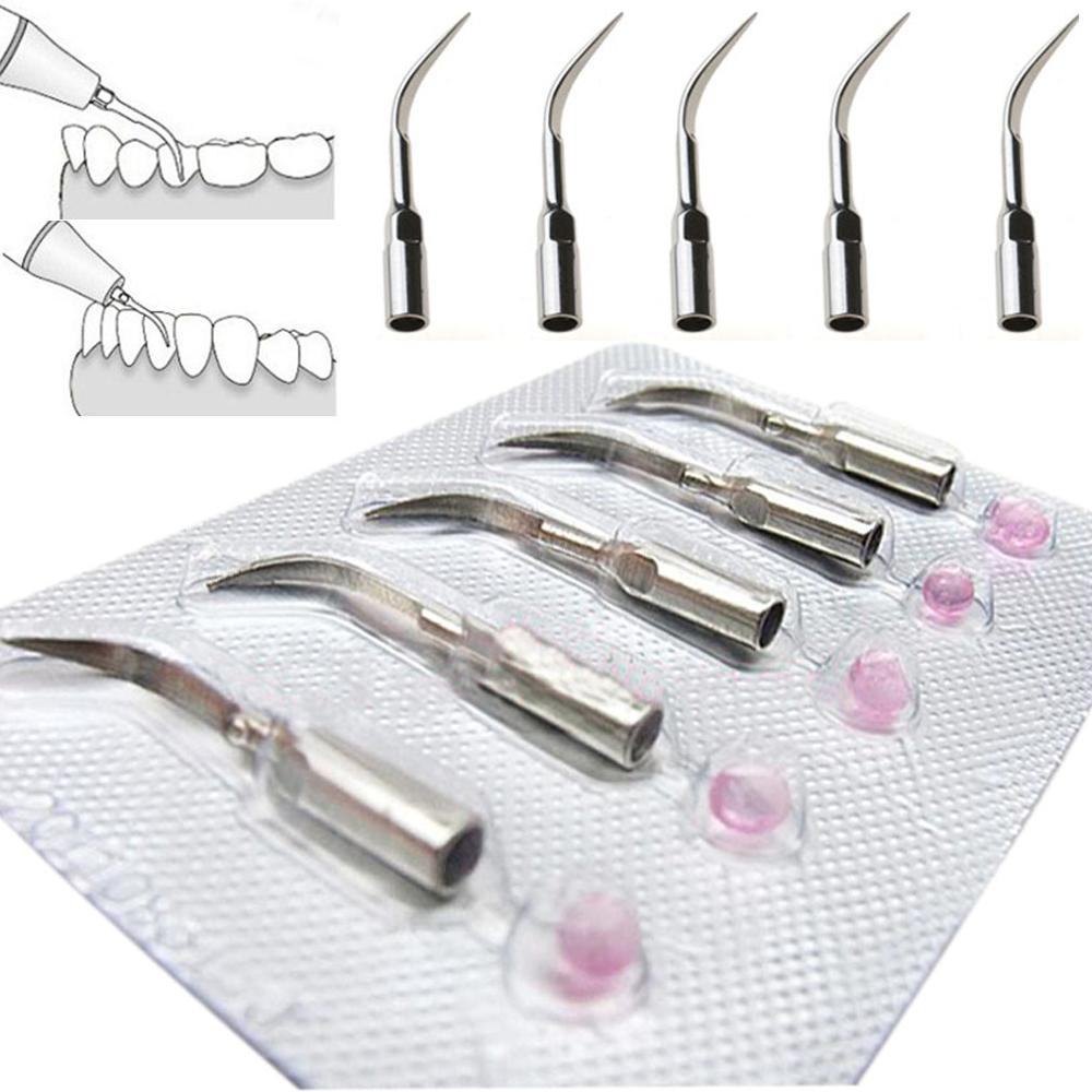 Dental Material Ultrasonic Scalers Tips Fit Woodpecker Teeth Cleaning Blade Dentistry Machine Replacement 5pcs CW29