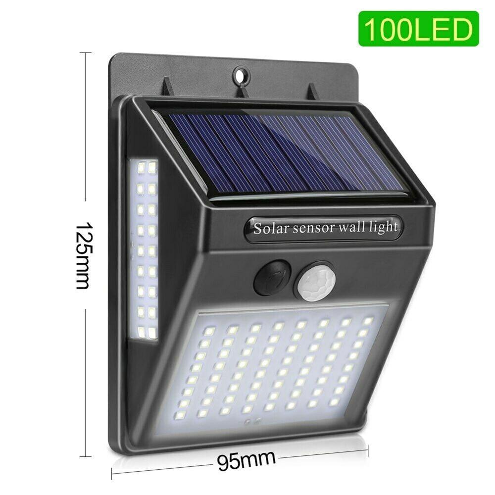 100 LED Outdoor Solar Light Solar Lamp PIR Motion Sensor Wall Light Waterproof Solar Powered Sunlight For Street Garden Decor