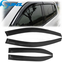 Car Wind Deflector For Toyota CAMRY 2006 2007 2008 2009 2010 2011 Black Window Deflectors Visor Vent shade/rain/sun/guard SUNZ