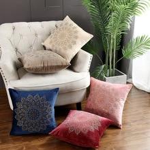 Morden Velvet Pillow Case Mandala Rhinestone Polyester Throw Pillow Cover Home Decorative Pillow Cover Excellent For Sofa Bed цены