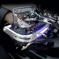 LED Motocross Handguard Motorcycle Hand Guards For honda cbr600f4i cb1000r cb650r cbr 600 rr hornet cb600 vtx 1800 super cub