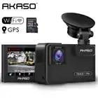 Автомобильный видеорегистратор AKASO Full HD 1080P с двойным объективом 2K Wi Fi с приложением для телефона gps двойной видео цифровой видеорегистратор для автомобиля в комплекте 32 Гб карта - 1