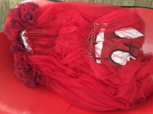 Image 5 - Vestido transparente con flores rojas para celebraciones de cumpleaños, Bar, cantante, espectáculo, largo para baile, 2019