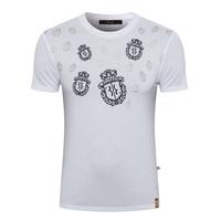 BILLIONAIRE T shirt men Mercerized cotton 2019 summer Short sleeve new fashion O Neck Business Breathable free shipping