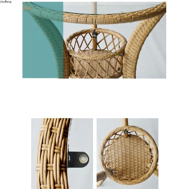 Hand-Woven Iron Balcony Chair 5