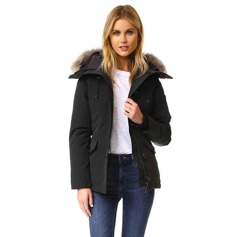2019 femmes vers le bas Parka veste canard oie dames fourrure chaud pardessus hiver court manteau collier en perles à capuche épais vêtements parkas d'extérieur Mujer