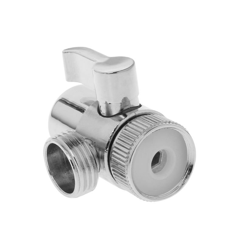 Brass 3-way Diverter Valve Faucet Connector Adapter Three Head Function Switch
