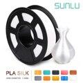 Sunlu Silk Pla Филамент 1 кг 1,75 мм 3d Филамент для 3d принтера полноцветный шелк на ощупь экологически чистый 3D Заправка для 3d принтера