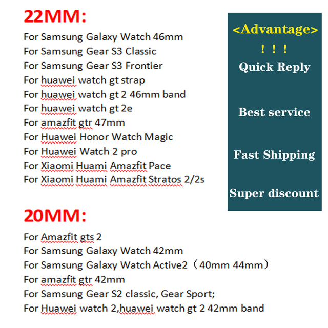 strap For Samsung Galaxy watch 3 46mm band gear s3 Frontier Classic nylon 22mm 20mm WatchWoven Nylon Band for 20mm 22mm Wrist 6