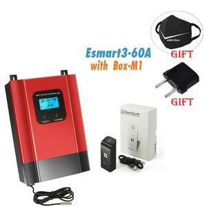 За максимальной точкой мощности, Солнечный контроллер заряда 40A 60A ESmart3 48V 36V 24V 12V Автоматический Подсветка ЖК-дисплей Max 150VDC Вход энергосбере...