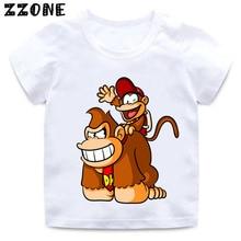Funny T-Shirt Donkey Kong Bros Baby Super-Smash Tops Girls Boys Kids Children Summer