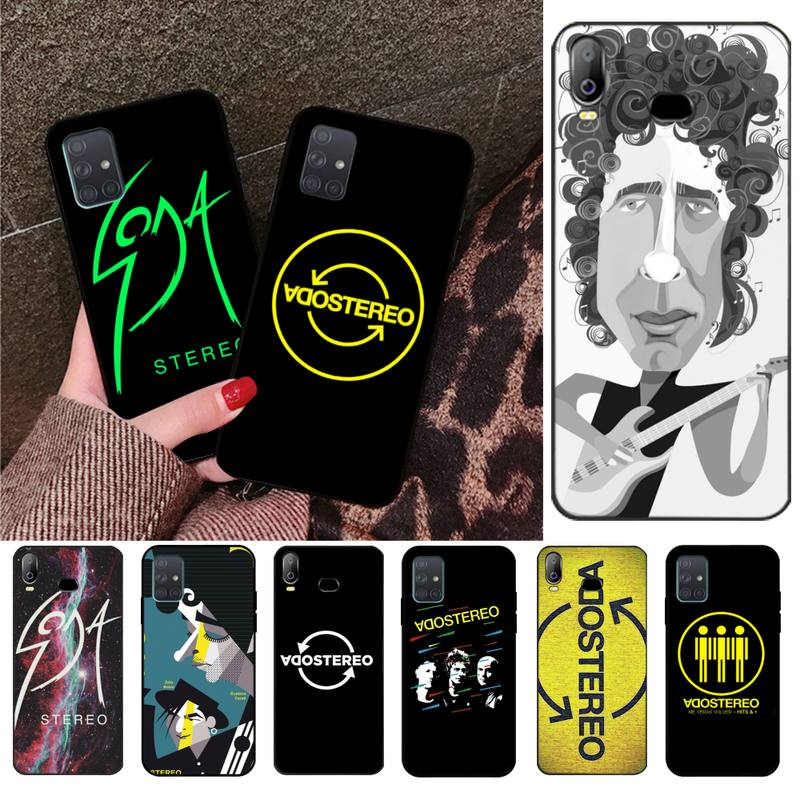 cool SODA STEREO Band Soft Silicone Black Phone <font><b>Case</b></font> For <font><b>Samsung</b></font> A10 A20 A30 A40 <font><b>A50</b></font> A70 A80 A71 A91 A51 A6 A8 2018 image