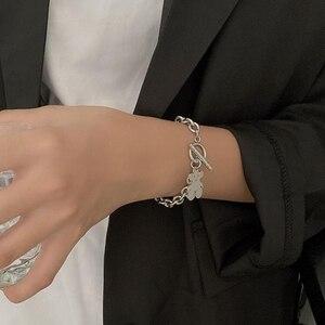Korean hip-hop earth cool bear bracelet female titanium steel non-fading bracelet trendy jewelry