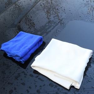 Image 4 - Serviette de lavage de voiture en cuir Chamois 60x90CM, Super absorbante, verre de maison, chiffon de nettoyage de cuisine à séchage rapide