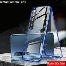 Coque à absorption magnétique pour Xiaomi, compatible modèles Redmi 10X, Redmi Note 9 Pro Max, MI 10 Pro Lite, objectif dappareil photo en métal, Double face en verre