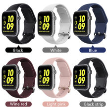 Sport Loop strap for Apple watch band 42mm 38mm bracelet for iwatch 5 band 44mm 40mm Soft Silicone correa apple watch 5 4 3 2 1 strap for apple watch band 42mm 38mm 5 4 3 correa iwatch 44mm 40mm sport loop bracelet apple watch 5 4 accessories 5 3 2