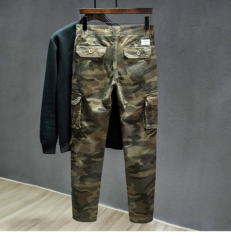 KSTUN Cotton Cargo Pants Men Straight Cut Tactical Military Overalls Multi Pocket Camouflage Pants Khaki Pants Man Trousers Sweatpants 12