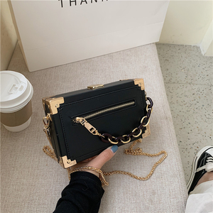 FANTASY 2020 Newest Rectangle Box Special Design Handbags For Women 8 Colors Thick Acrylic Chain Luxury Messenger Shoulder Bags
