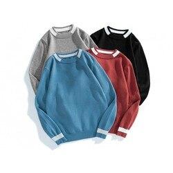 Hommes coréen solide col roulé mince chandail automne patchwork modèles de tricot hommes chandails grande taille coton hommes chandails mâle