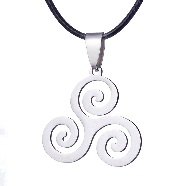 Fashion Charm Teen Wolf Triskele Necklace Triskelion Necklace Allison Argent Stainless Steel Necklace