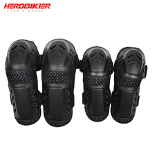 HEROBIKER Motorcycle Knee Pads Protective Gear Motocross Off-Road Racing Knee + Elbow Pads Set Noto Knee Motorcycle Equipment