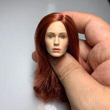 Масштаб 1/6 европейские звезды женская голова из красных волос