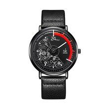 цена SK Ladies Watch Top Brand Girl Bracelet Fashion Quartz Watch Leather Strap Relogio Feminino Clock Watch Women Luxury Reloj онлайн в 2017 году
