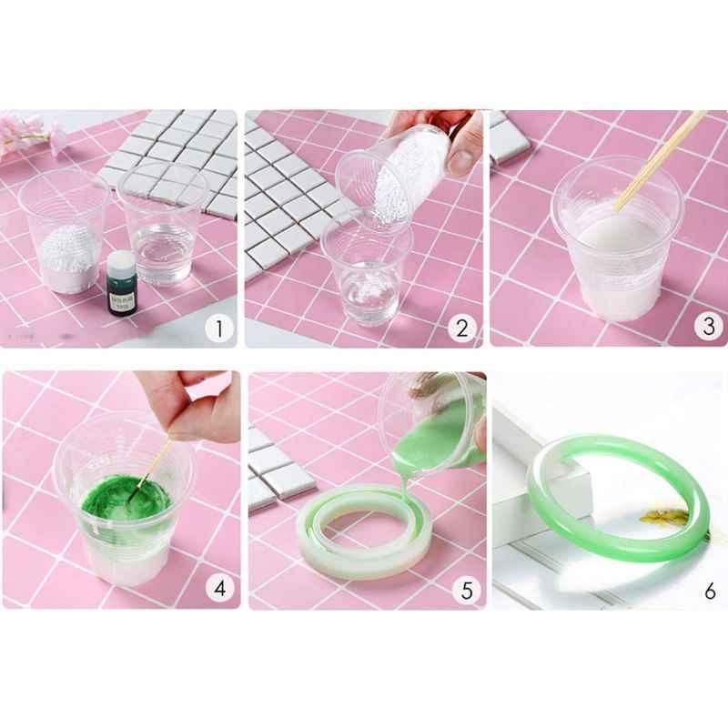 Imitação epóxi pó de jade Artesanal Magia Jade Ágata Pedra de Cristal Em Pó Pigmento Molde de Resina para Fabricação de Jóias DIY