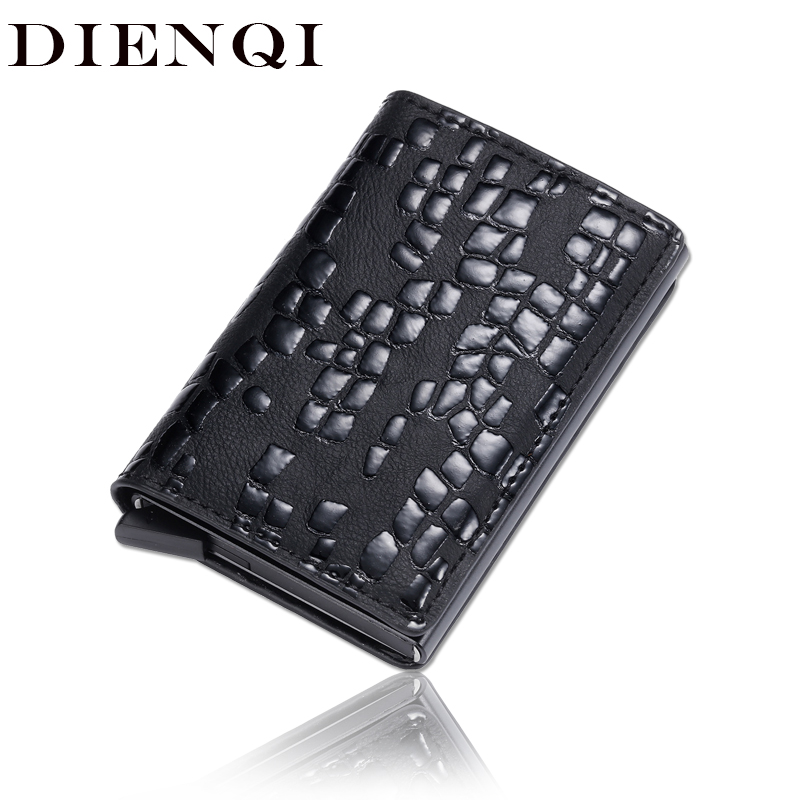 DIENQI Rfid Card Holder Men Wallets Money Bag Male Vintage Black Short Coin Purse 2020 Small Leather Smart Slim Mini Wallet Thin