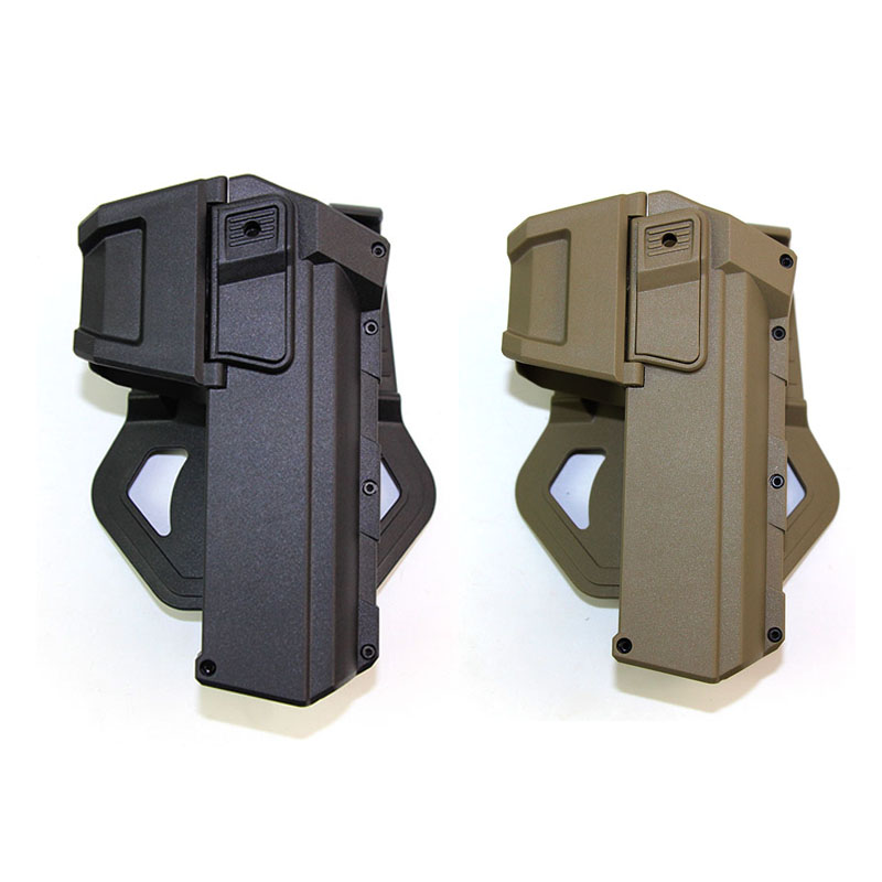 Tactical Gun Holster For Glock 17 18 Airsoft Gun Case Movable Pistol Holster with Flashlight Laser Mounted Hunting Accessories Holsters     - title=