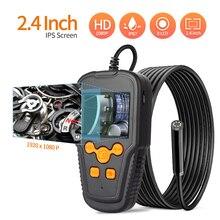 Промышленная камера-эндоскоп 8 мм Инспекционная камера с 2,3 ''дюйма 1080P HD цифровой змеевидная камера для канализационных труб с 8 светодиодны...