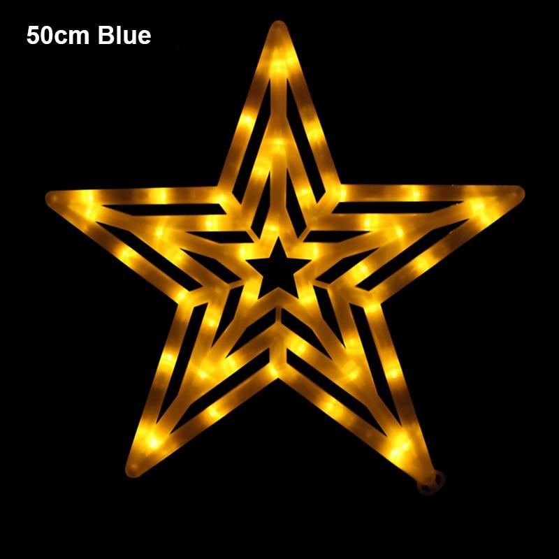 50cm led grande estrela pingente luzes a prova ddropagua barra droplight sala de estar interior arvore