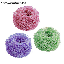 Do not hurt the pot cleaning brush magic sponge microfiber scouring pad bowl ball kitchen washing tools