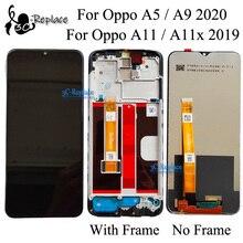 Черный 6,5 дюйма для Oppo A11 / A11x 2019 / A5 / A9 (2020) CPH1937 CPH1939 CPH1931, ЖК дисплей, кодирующий преобразователь сенсорного экрана в сборе