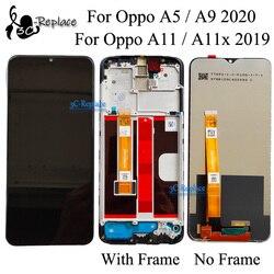 Черный 6,5 Дюймов Тонкий Высококачественный защитный чехол для Oppo A11 / A11x 2019 / A5 / A9 (2020) CPH1937 CPH1939 CPH1931 ЖК-дисплей Дисплей кодирующий преобразоват...